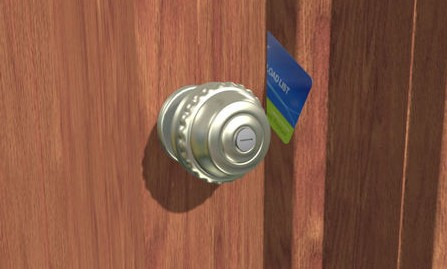 open locked door credit card