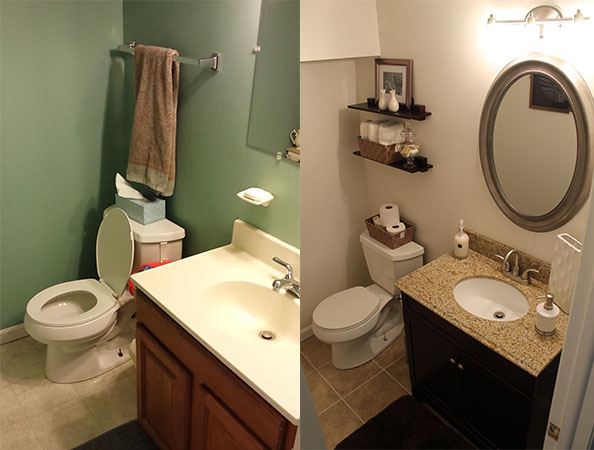 Bathroom Remodel Before And After Say Cheese 100 Small Bathroom Table Bathroom Tuvalu Home 8