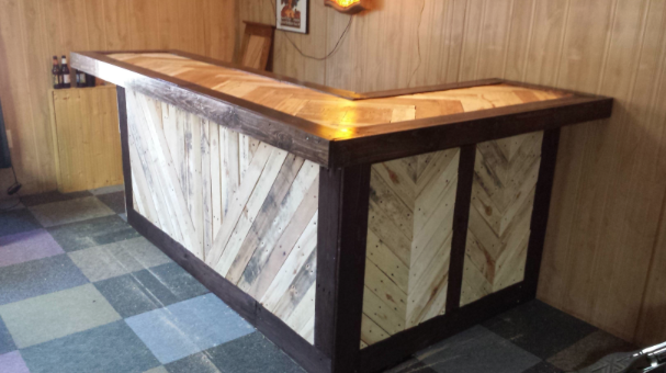 Why go to the bar when you could build your own chicago for Diy wood bar