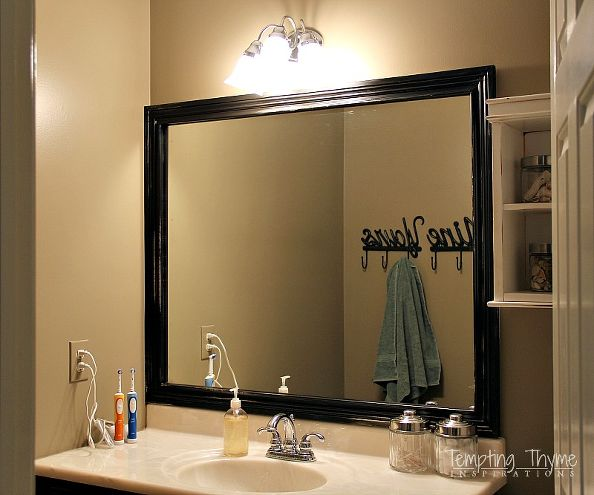 add frame to bathroom mirror the easiest way to improve a mirror add a frame chicago 21889